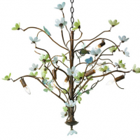 Butterfly and Blossom Chandelier 36 inches x 28 inches