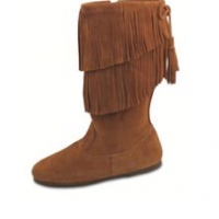 Calf HIgh Fringe Boot