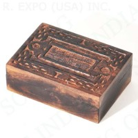 Carved Mango Wood Box