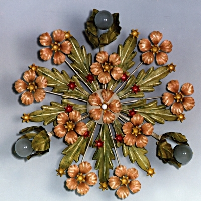 Ceiling Lamp with Flower
