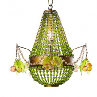 Cherry Blossom Parisian Chandelier 10 inches x 13 inches