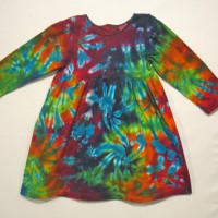 Children's Long Sleeve Tie Dye Dress