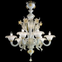 Classic Toso Gold Flower Murano Glass