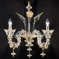 Classic Two Light Murano Chandelier