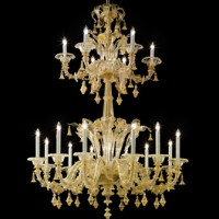 Classic Two-Tier Murano Chandelier