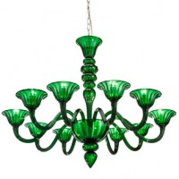 Contemporary Emerald Murano Glass