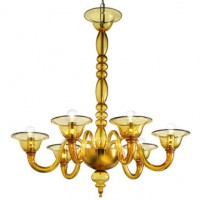 Contemporary Gold Murano Chandelier