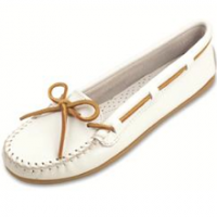 Cream Leather Moccasins