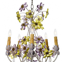 Crystal Petal Chandelier 23 inches x 27 inches