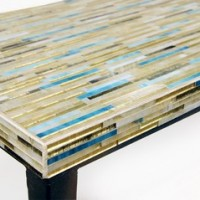 Double Console Wispy White Gold and Turquoise detail 2
