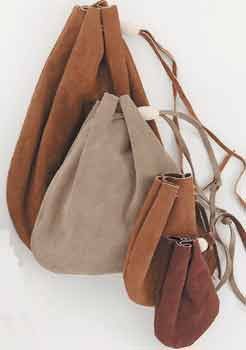 Drawstring Leather Pouches