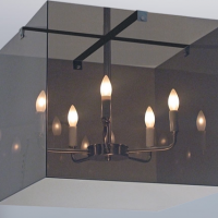 Eva Smoked Acrylic Light Fixture