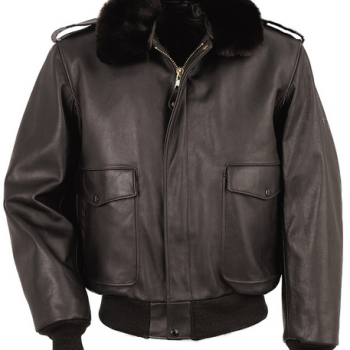 Flight Jacketwith Snap-Off Collar