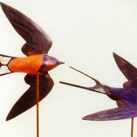 Flying Barn Swallow Decoys