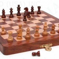 Folding Wooden Chess Set 8 inches