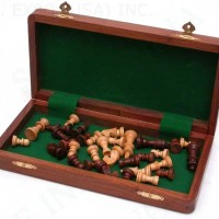 Folding Wooden Chess set 10 inches