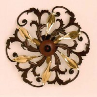 Forged Flower Ceiling Lamp with 3 Light