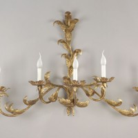 Gold Acanthus Sconce with 5 Lights