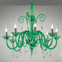 Green Goodness Murano Chandelier