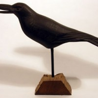 Hand-Carved Crow Decoy