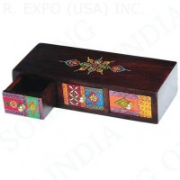 Hand Painted Wood Drawers 11 inches x 4 inches