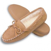 Hard Sole Fleece Lined Slippers, tan
