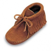 Infant's Leather Fringe Bootie