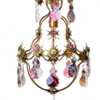 Jewels Collage chandelier 10 inches x 19.5 inches