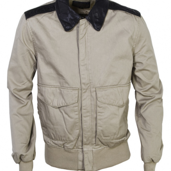Khaki Cotton Twill Jacket