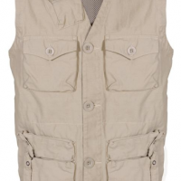 Khaki Cotton Twill Survival Vest
