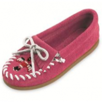 Kid's Beaded Moccasins, pink