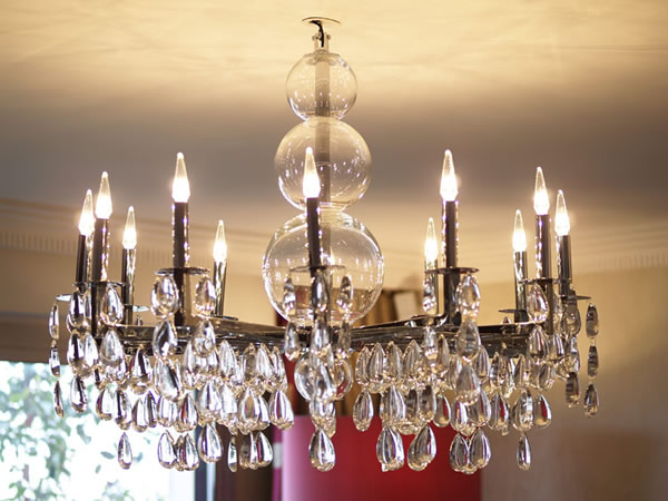12 Light Crystal Rain Chandelier