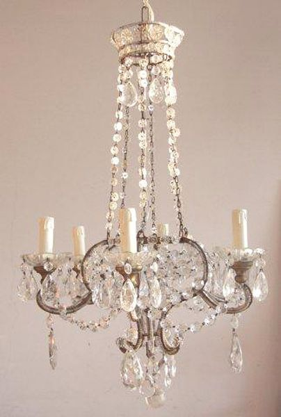 1920s Beaded Empire Chandelier