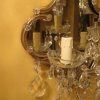 1930s Maria Theresa Wall Sconce, detail