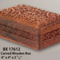 BX Hand Carved Wooden Box