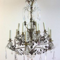 Beaded Leaves Florentine Chandelier