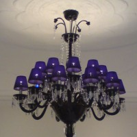 Black Murano Shaded Chandelier