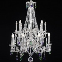 Bohemian Crystal Double Tier Chandelier