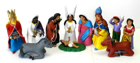 Clay Nativity Set