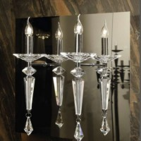 Crystal Candle Wall Sconce