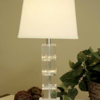 Crystal Cubes Table Lamp