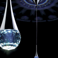 Crystal Flowering Pendant Light