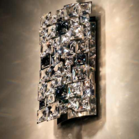Cut Crystal Mosaic Sconce