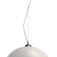 Demi Monde Pendant Light, white & silver