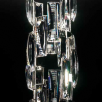Double Helix Swarovski Crystal Light