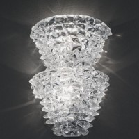 Double Murano Ice Glass Sconce