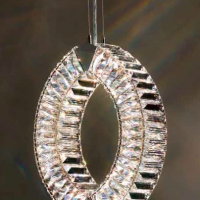 Faceted Swarovski Crystal Ellipsis Light