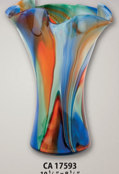 Gorgeous Blown Glass Multicolor Vase
