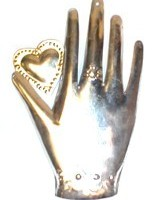 Hand with Heart Unpainted Milagro
