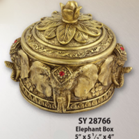 Jeweled Elephant Box